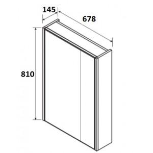 Зеркальный шкаф Roca Up, белый глянец, 70 см, ZRU9303016