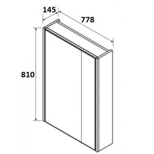 Зеркальный шкаф Roca Up, белый глянец, 80 см, ZRU9303017