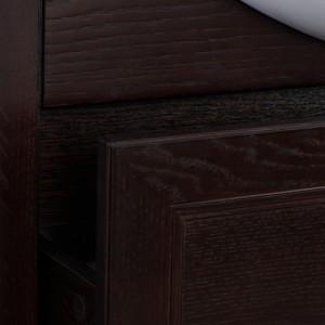Тумба с раковиной Roca America Evolution L, дуб темный шоколад, 85 см, ZRU9302959+327206000