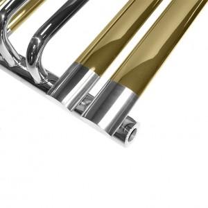 Полотенцесушитель водяной Prada Alfa-F 620х450 мм золото