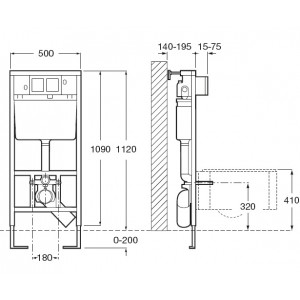 Комплект инсталляция+клавиша LAUFEN и подвесной унитаз PALOMBA 8.2080.1 с сидением микролифт