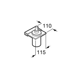 Настенный дозатор для жидкого мыла Roca Nuova, 816522001