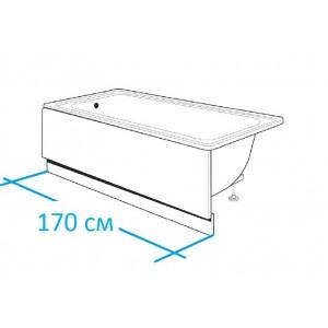 Фронтальная панель 250100000 для чугунной ванны HAITI, CONTINENTAL 170