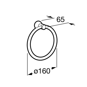 Кольцо для полотенец Roca Superinox, диаметр 16см, 815690001