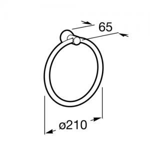 Кольцо для полотенец Roca Superinox, диаметр 21см, 815691001