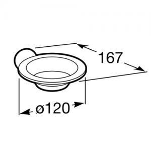 Настенная мыльница Roca Superinox, 815677001