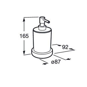 Дозатор для жидкого мыла Roca Tempo настольный, 817026001