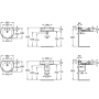 Раковина ROCA HAPPENING, с отверстием для смесителя, 58см, 327563000