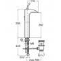 Высокий смеситель для раковины ROCA EVOL 5A3449C00