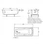 Акриловая ванна ROCA SURESTE 150x70, ZRU9302778+ZRU9302779